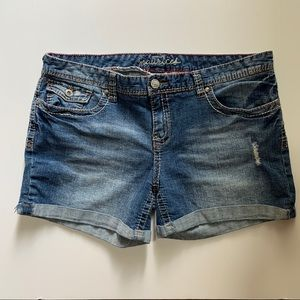 Maurices Jean Shorts Distressed Cuffed Hems